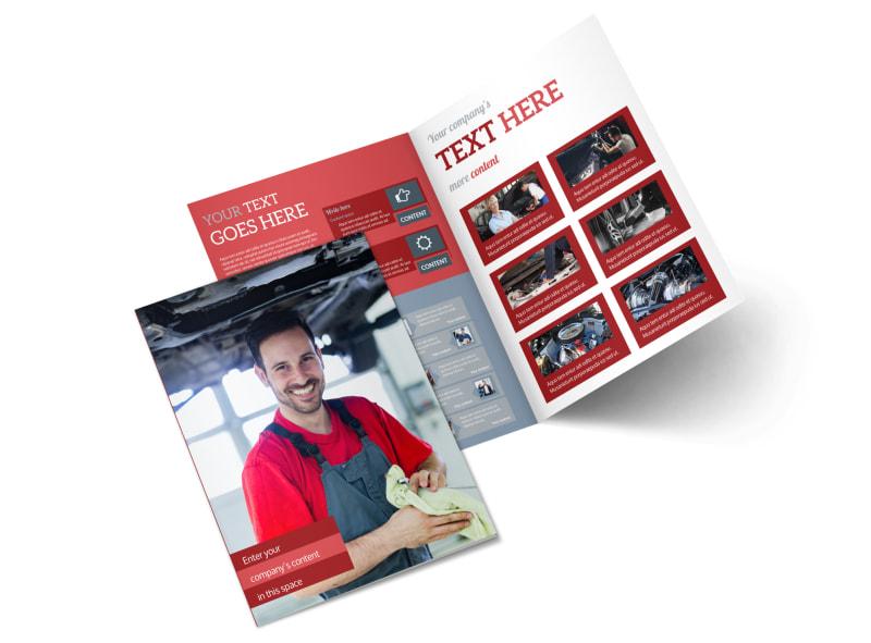 Oil Change Bi-Fold Brochure Template 2