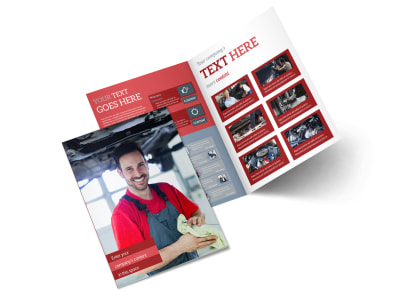 Oil Change Bi-Fold Brochure Template 2