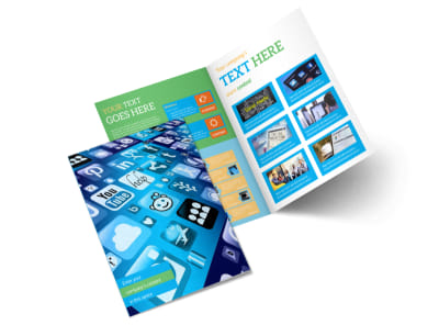 Social Media Marketing Consultants Bi-Fold Brochure Template 2