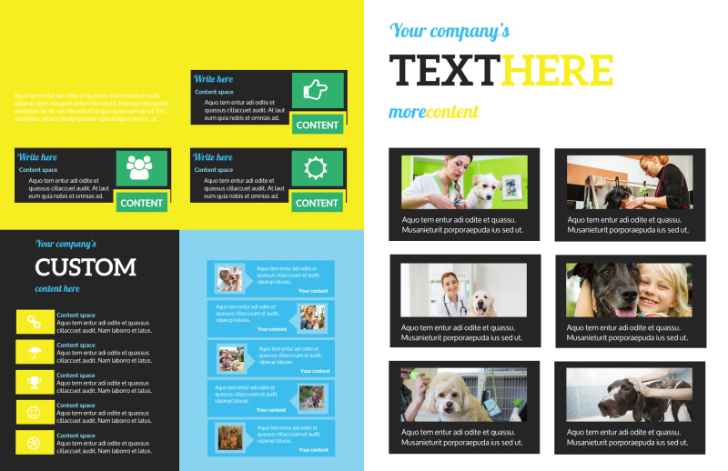 Shaggy Pet Grooming Brochure Template Preview 3