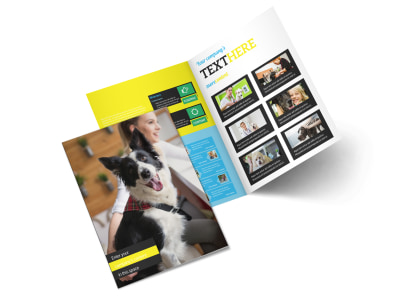 Shaggy Pet Grooming Bi-Fold Brochure Template 2