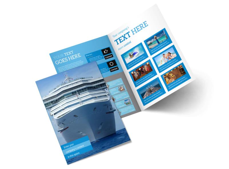 Cruise Ship Getaway Bi-Fold Brochure Template 2