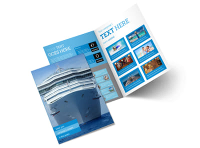Cruise Ship Getaway Bi-Fold Brochure Template 2