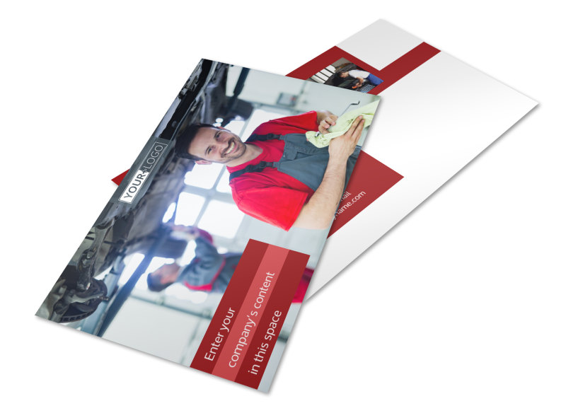 Oil Change Postcard Template 2