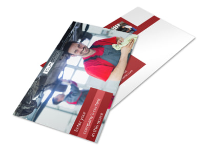 Oil Change Postcard Template 2 preview