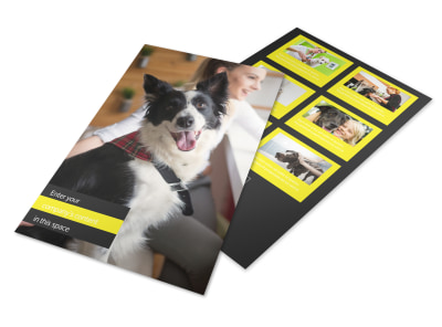 Shaggy Pet Grooming Flyer Template 3