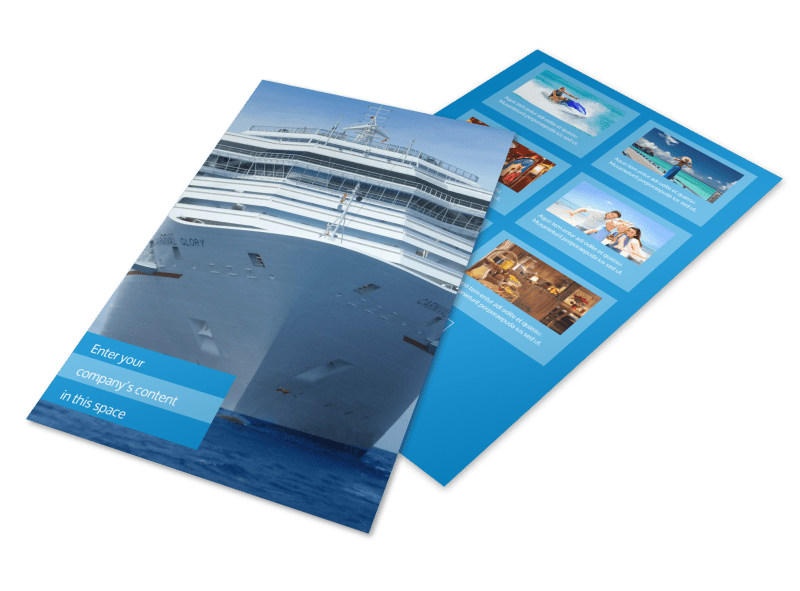 Cruise Ship Getaway Flyer Template 3
