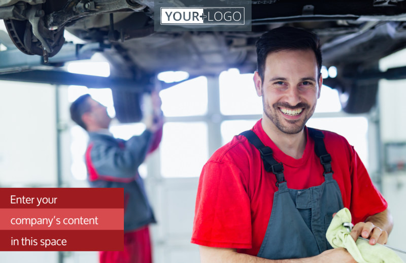 Oil Change Postcard Template Preview 2