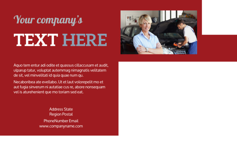Oil Change Postcard Template Preview 3