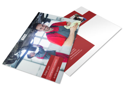 Oil Change Postcard Template preview