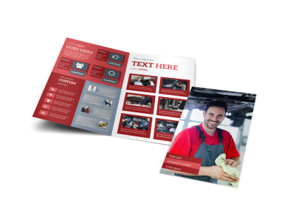 Oil Change Bi-Fold Brochure Template