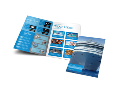 Cruise Ship Getaway Bi-Fold Brochure Template