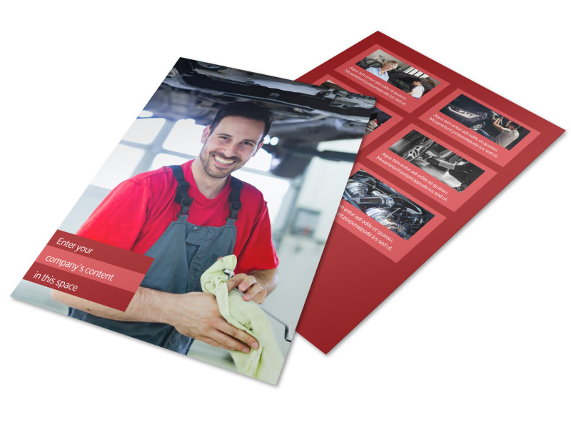 Oil Change Flyer Template Preview 4