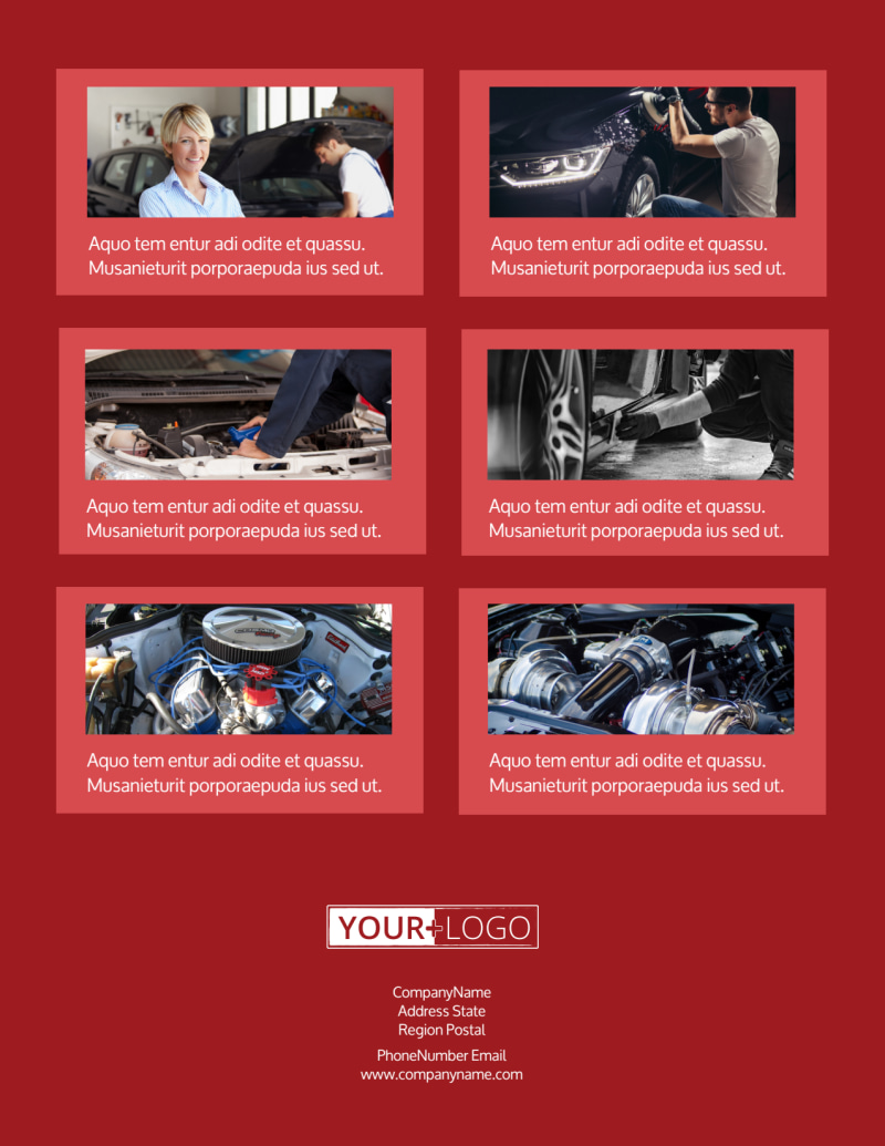 Oil Change Flyer Template Preview 3