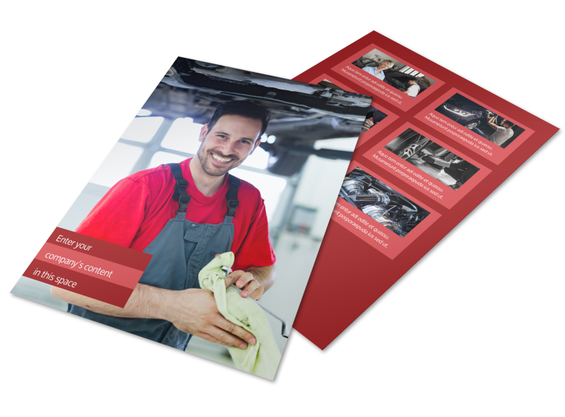 Oil Change Flyer Template Preview 1