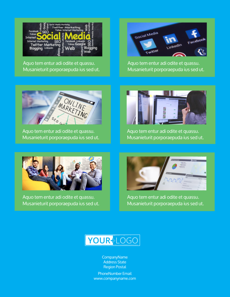 Social Media Marketing Consultants Flyer Template Preview 3