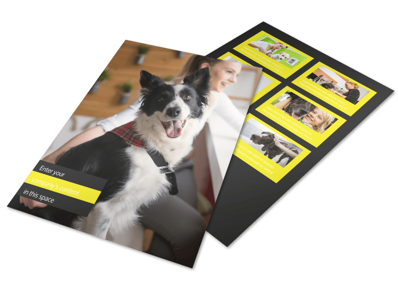 Shaggy Pet Grooming Flyer Template Preview 1