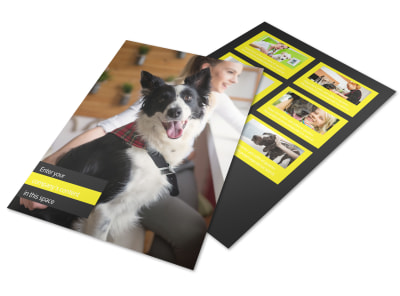 Shaggy Pet Grooming Flyer Template preview