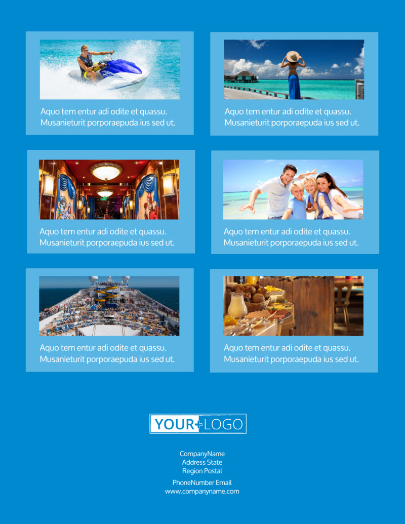 Cruise Ship Getaway Flyer Template Preview 3
