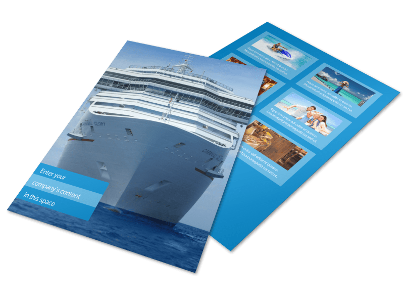 Cruise Ship Getaway Flyer Template Preview 1