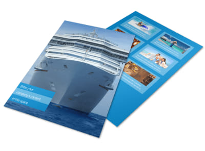 Cruise Ship Getaway Flyer Template
