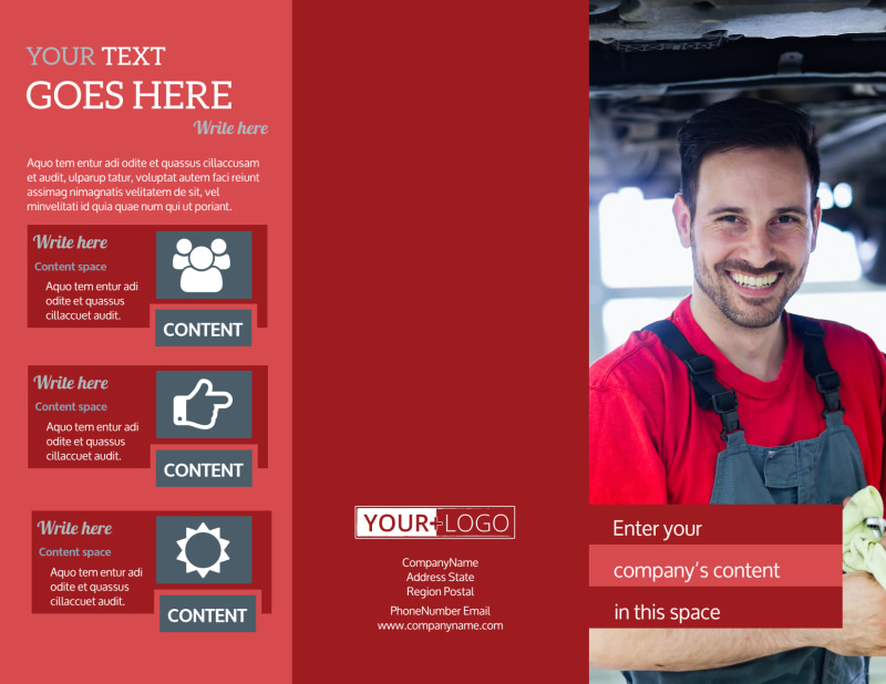 Oil Change Brochure Template Preview 2