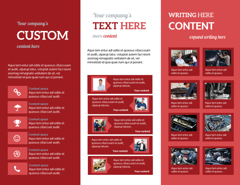 Oil Change Brochure Template Preview 3