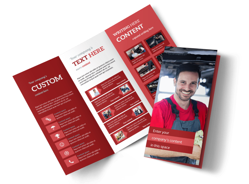 Oil Change Brochure Template Preview 1