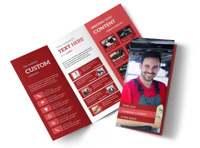 Oil Change Tri-Fold Brochure Template