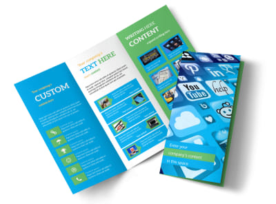 Social Media Marketing Consultants Tri-Fold Brochure Template