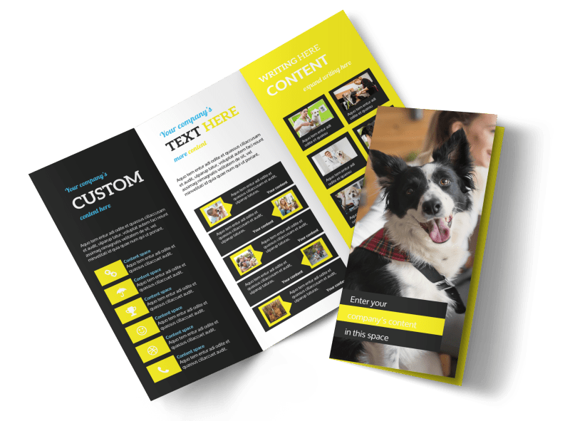 Shaggy Pet Grooming Brochure Template Preview 1