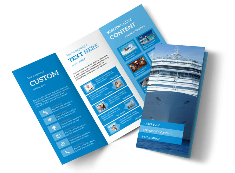 Cruise ship getaway brochure template mycreativeshop for Cruise brochure template