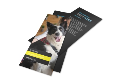 Shaggy Pet Grooming Flyer Template 2