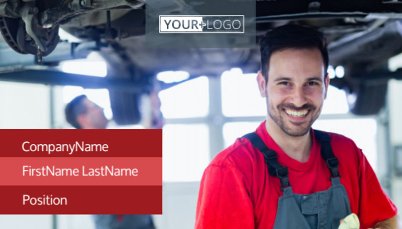 Oil Change Business Card Template Preview 2