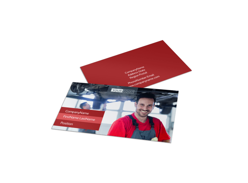Oil Change Business Card Template Preview 1