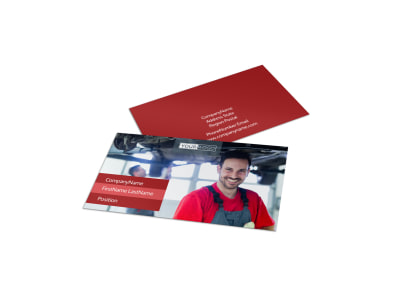 Oil Change Business Card Template preview
