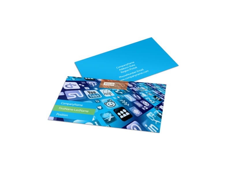 Social Media Marketing Consultants Business Card Template