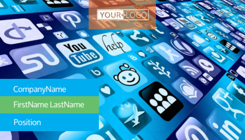 Social Media Marketing Consultants Business Card Template Preview 2