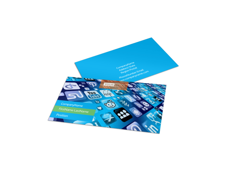 Social Media Marketing Consultants Business Card Template Preview 1