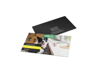 Shaggy Pet Grooming Business Card Template preview