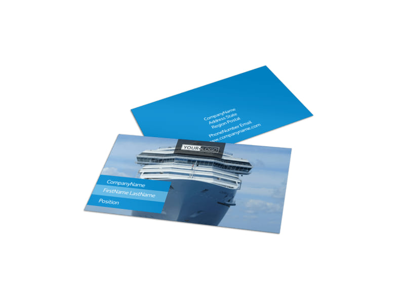 Cruise Ship Getaway Business Card Template