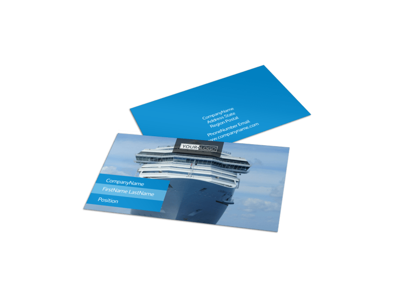 Cruise Ship Getaway Business Card Template Preview 1