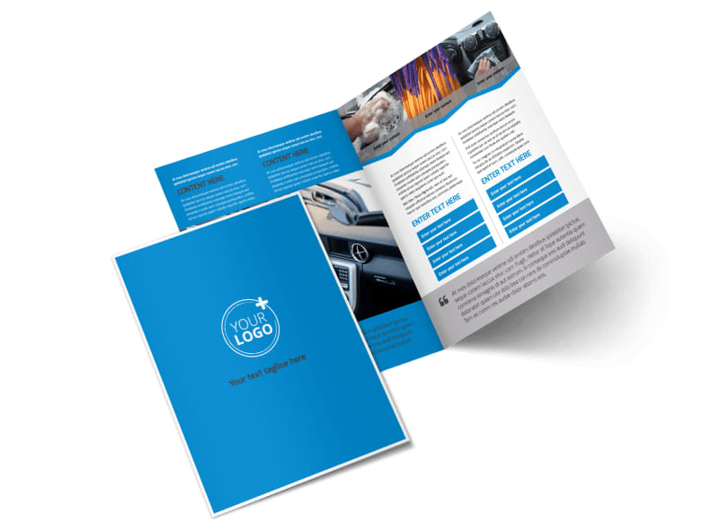 Car Wash Options Bi-Fold Brochure Template 2