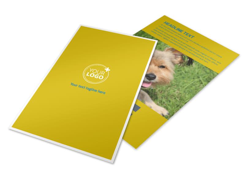 Pet Grooming Bundle Flyer Template 3