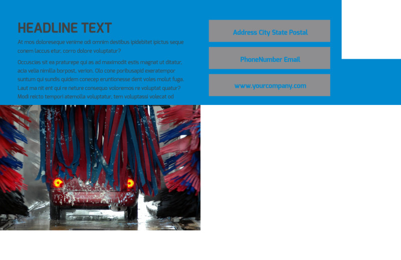 Car Wash Options Postcard Template Preview 3