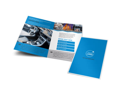 Car Wash Options Bi-Fold Brochure Template preview