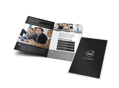 HR Services Bi-Fold Brochure Template