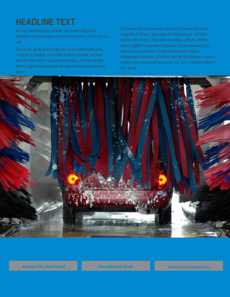 Car Wash Options Flyer Template Preview 3