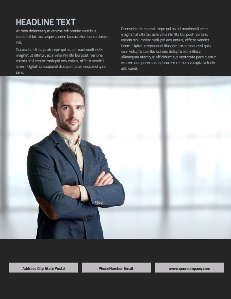 HR Services Flyer Template Preview 3