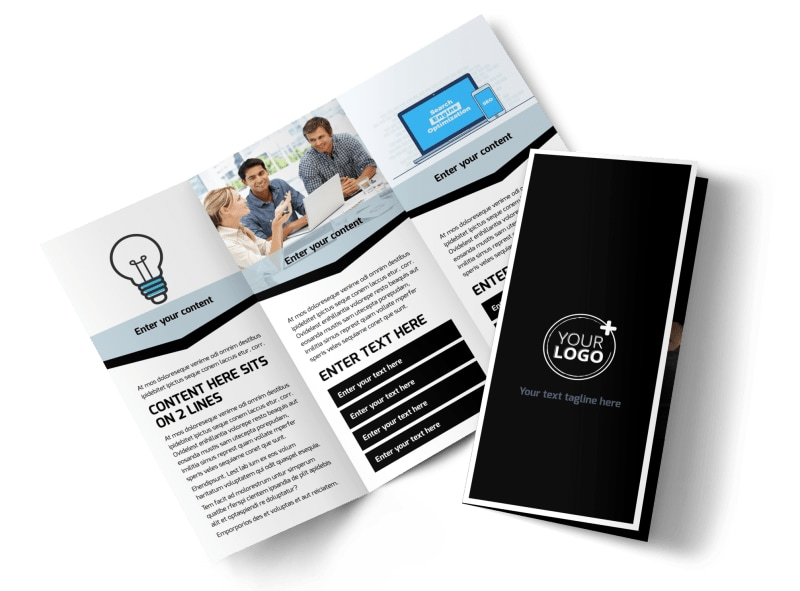 Web Hosting Tri-Fold Brochure Template